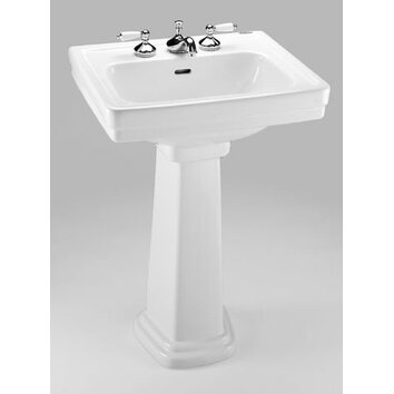 Toto Promenade 24 Quot Pedestal Bathroom Sink With Deep Bowl