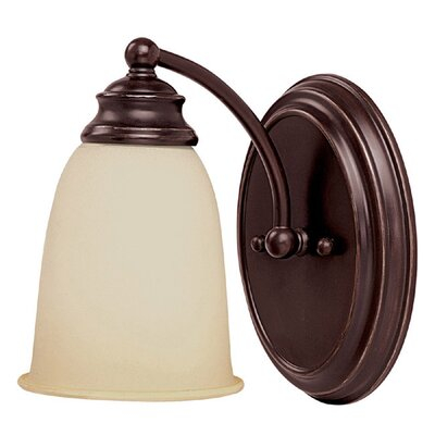 "Capital Lighting 7.5"" One Light Wall Sconce in Mediterranean Bronze"