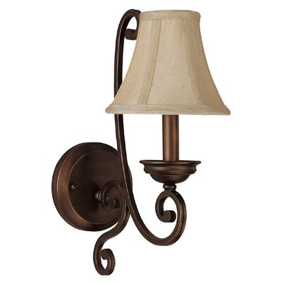 Wall Sconce Lamp Shades : Capital Lighting Cumberland 1 Light Wall Sconce with Shade & Reviews Wayfair