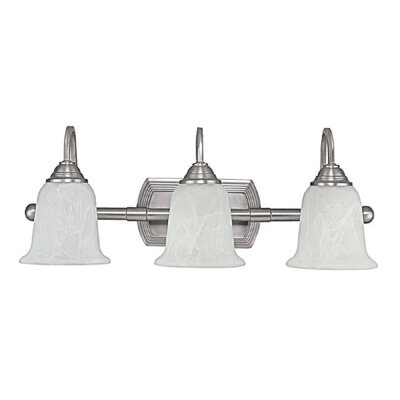 Capital Lighting 25&quot; Three Light Bath Vanity in Matte Nickel