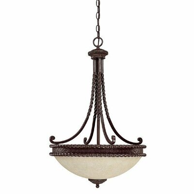 Capital Lighting Highlands 3 Light Inverted Pendant