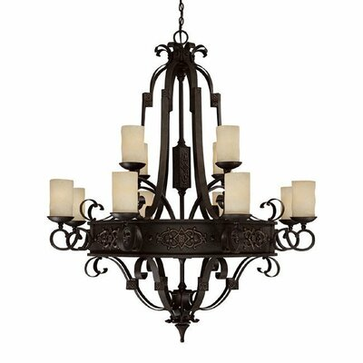 Capital Lighting River Crest 12 Light Chandelier
