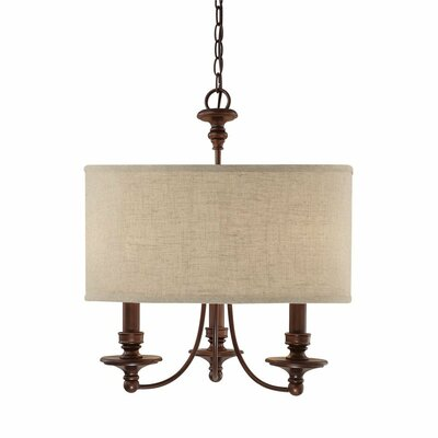 Capital Lighting Loft 3 Light Drum Pendant