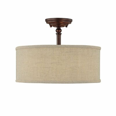 Capital Lighting Loft 3 Light Semi Flush Mount