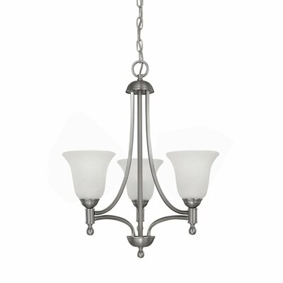 Metropolitan 3 Light Chandelier with Alabaster Glass