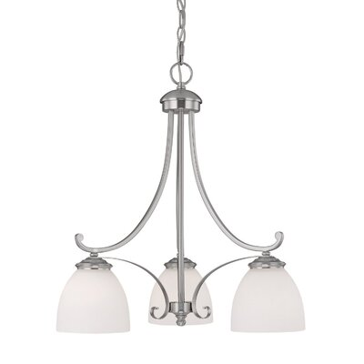 Capital Lighting Chapman 3 Light Chandelier with Soft Glass Shade
