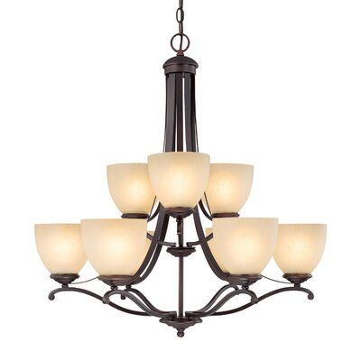 Capital Lighting Chapman 9 Light Chandelier
