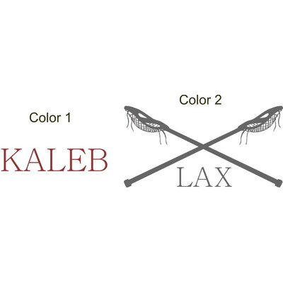Lacrosse Name LAX Vinyl Wall Decal
