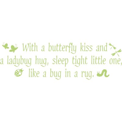 Alphabet Garden Designs Butterfly Kisses Vinyl Wall Decal