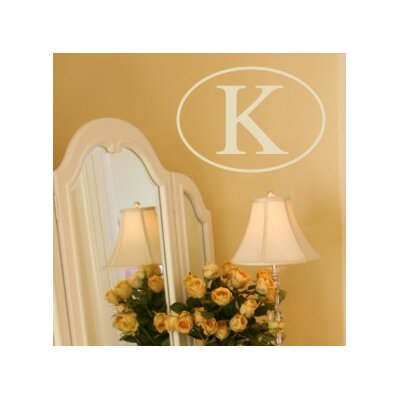Single Oval Monogram Wall Decal