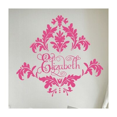 Alphabet Garden Designs Tres Chic Damask Wall Decal