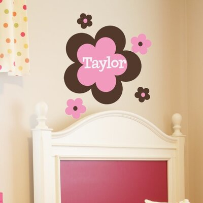 Alphabet Garden Designs Flower Power Wall Decal