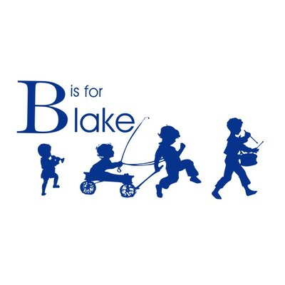 Alphabet Garden Designs Boy Parade Personalized Wall Decal
