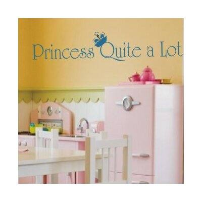 Alphabet Garden Designs Princess Quite A Lot Wall Decal