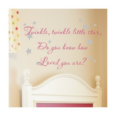 Alphabet Garden Designs Twinkle Twinkle Wall Decal