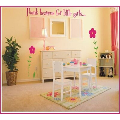Thank Heavens For Little Girls / Boys Wall Decal