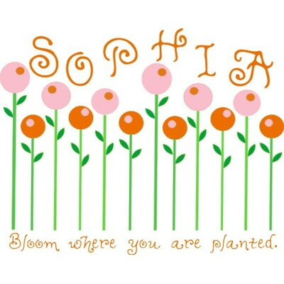 Alphabet Garden Designs Candy Flowers Wall Decal