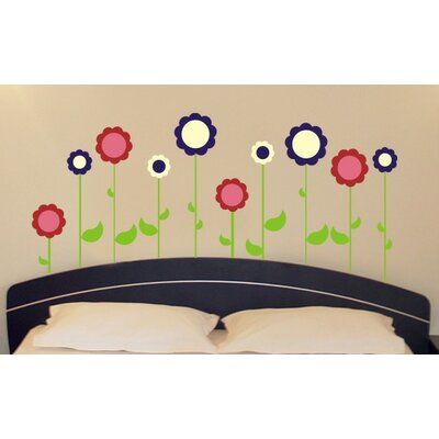 Alphabet Garden Designs Flower Garden Wall Decal