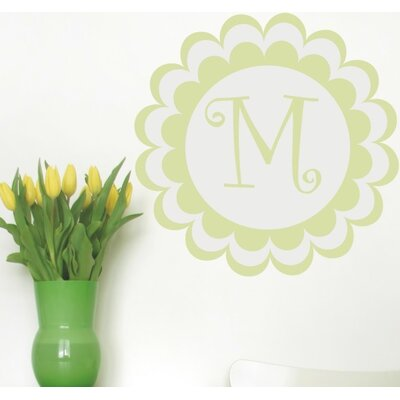 Alphabet Garden Designs Bloomster Monogram Wall Decal
