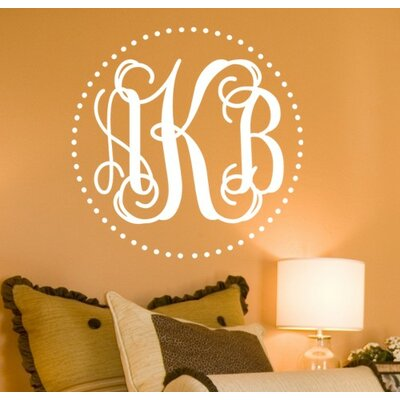 Alphabet Garden Designs Fancy Dot Interlock Monogram Wall Decal