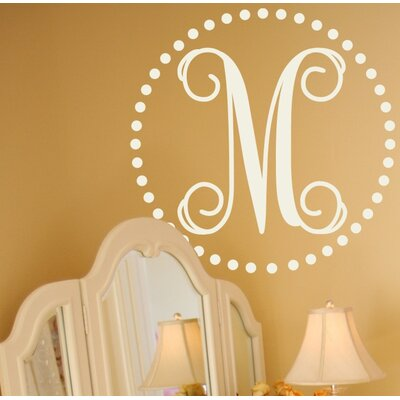 Alphabet Garden Designs Fancy Dot Monogram Wall Decal