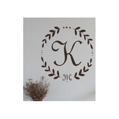 Alphabet Garden Designs French Vine Monogram Wall Decal