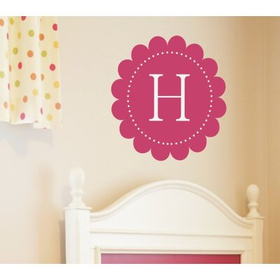 Alphabet Garden Designs Scalloped Monogram Wall Decal