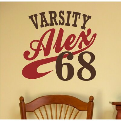 Alphabet Garden Designs Varsity Personalized Wall Decal