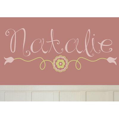 Alphabet Garden Designs Natalie's Wall Decal