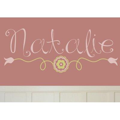 Alphabet Garden Designs Natalie's Wall Decal