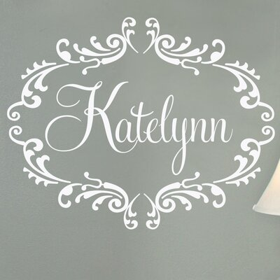 Alphabet Garden Designs Princess Personalized Frame Wall Decal