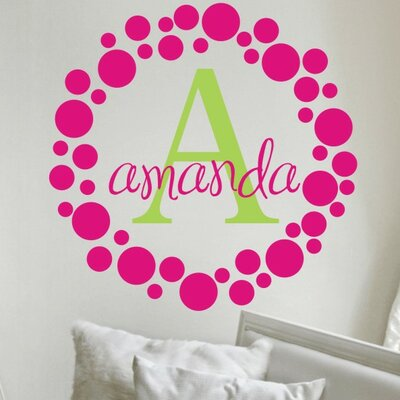 Alphabet Garden Designs Amanda's Dots Wall Decal