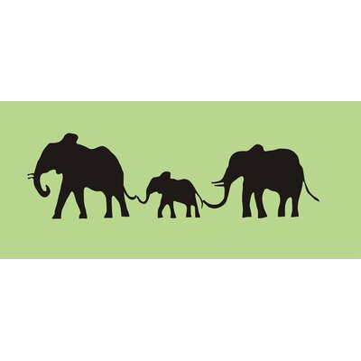 Alphabet Garden Designs Elephant Family Chalkboard Wall Decal