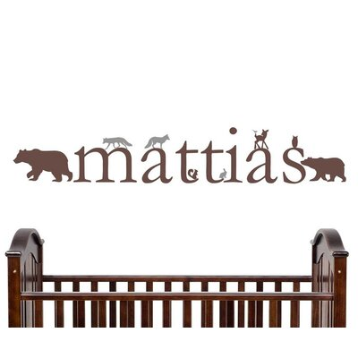 Forest Critters Personalized Vinyl Wall Decal