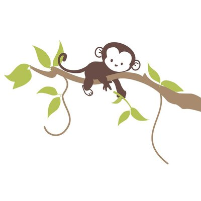 Alphabet Garden Designs Monkey Branch Vinyl Wall Decal