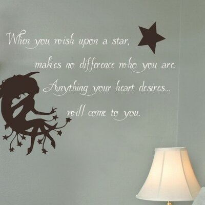 Alphabet Garden Designs Wish Upon a Star Wall Decal