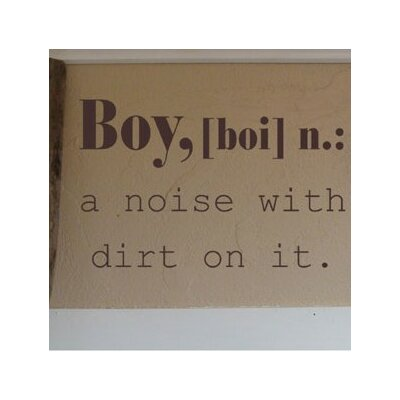 Alphabet Garden Designs Boy Definition Wall Decal