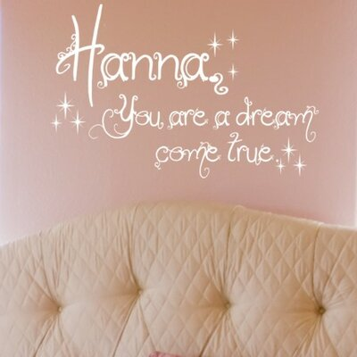 Alphabet Garden Designs Dream Come True Wall Decal