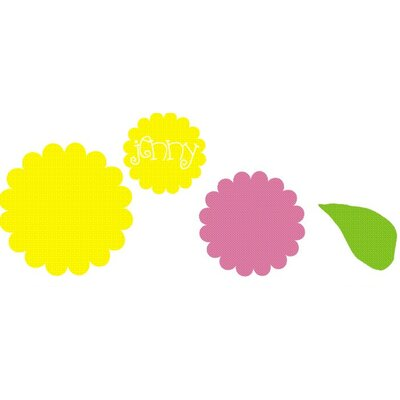 Alphabet Garden Designs Sunshine Bloom Personalized Wall Decal