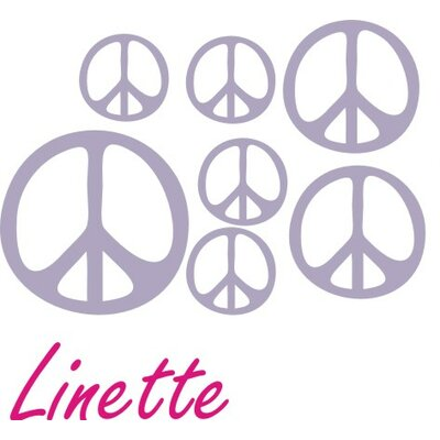 Alphabet Garden Designs Personalized Peace Sign Wall Decal