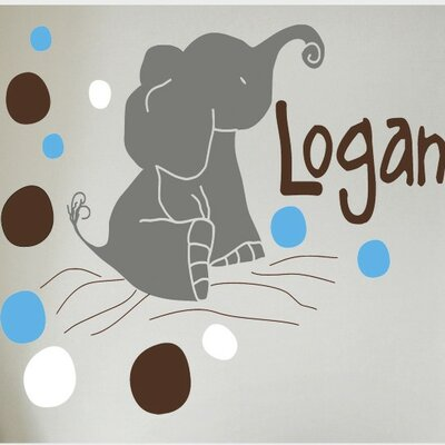 Alphabet Garden Designs Elephants Wall Decal
