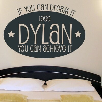 Alphabet Garden Designs Dream Big Wall Decal