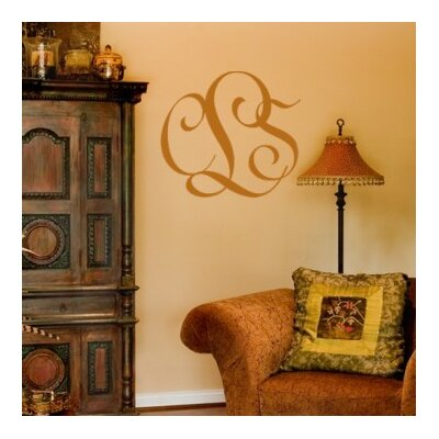 Alphabet Garden Designs Entwined Monogram Wall Decal