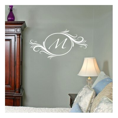 Alphabet Garden Designs Delightful Elements Initial Wall Decal