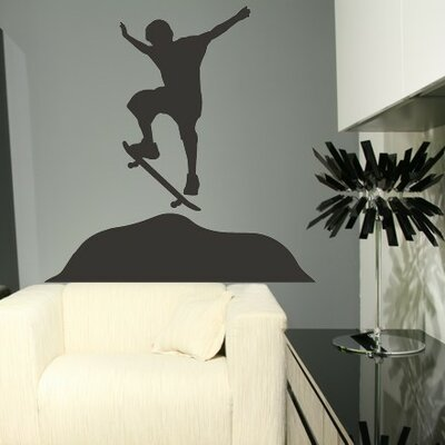Alphabet Garden Designs Skateboarder Wall Decal