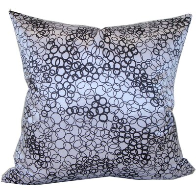 Jiti Faux Silk Square Decorative Pillow in White and Black