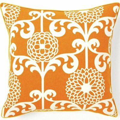 Jiti Pillows Floret Cotton Square Pillow in Orange