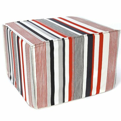 Jiti Siggi Stripes Cotton Cube Ottoman