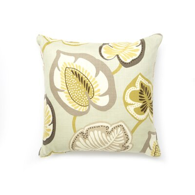 Jiti Pillows Hosta Lily Cotton Square Pillow in Celedon