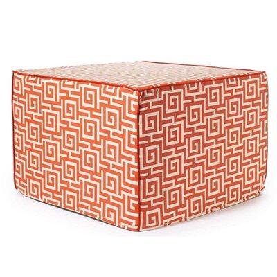 Jiti Puzzle Outdoor Ottoman in Orange